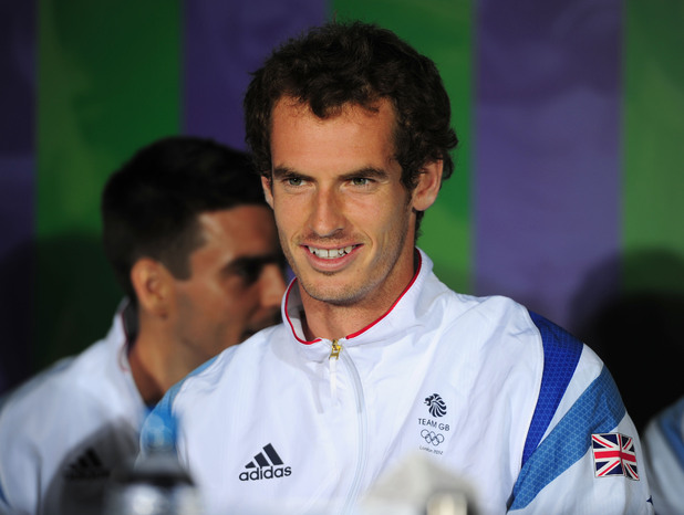 Great Britain&#39;s Andy Murray during the Team GB Press Conference at The All England Lawn Tennis and Croquet Club, Wimbledon, London.