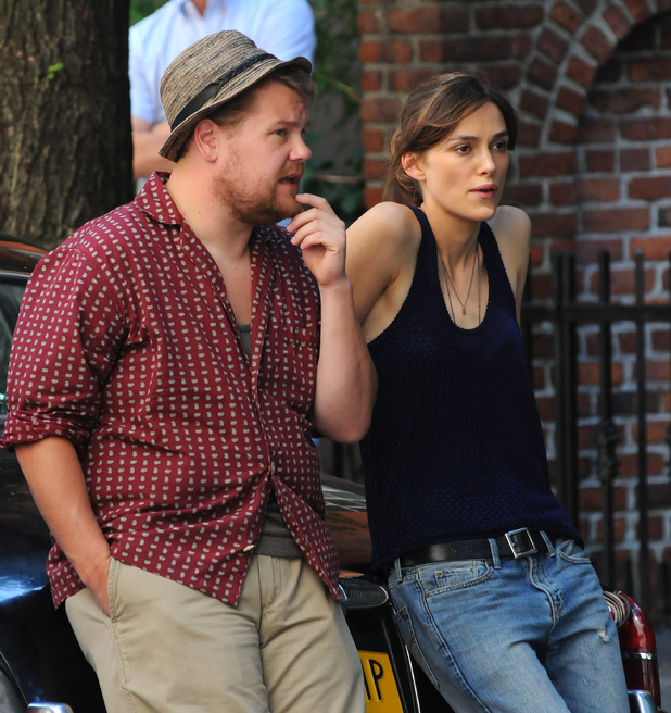 James Corden and Keira Knightley