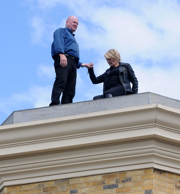 Phil joins Shirley on the roof.