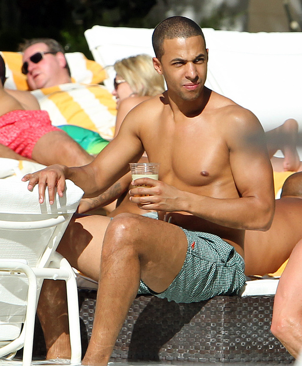 Marvin Humes of JLS The JLS boys hang out at the pool at the Encore, in Las Vegas, Nevada, on the first leg of band member Marvin Humes' bachelor party. Las Vegas, Nevada