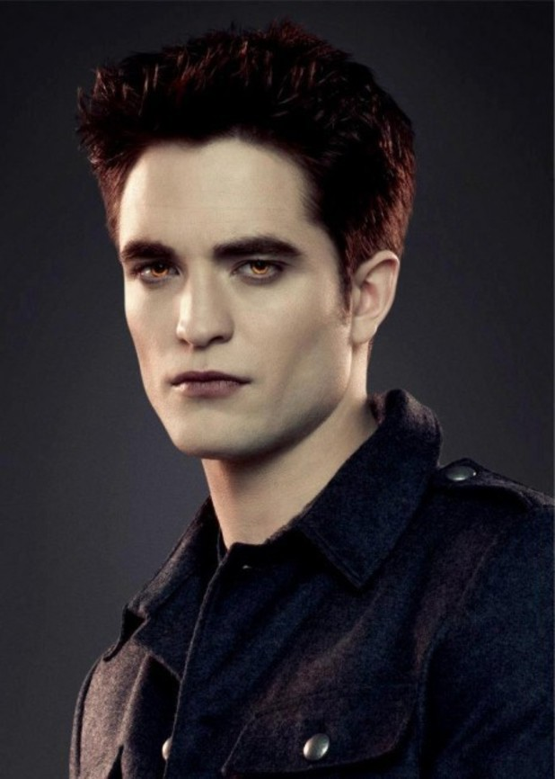 Robert Pattinson as Edward Cullen.