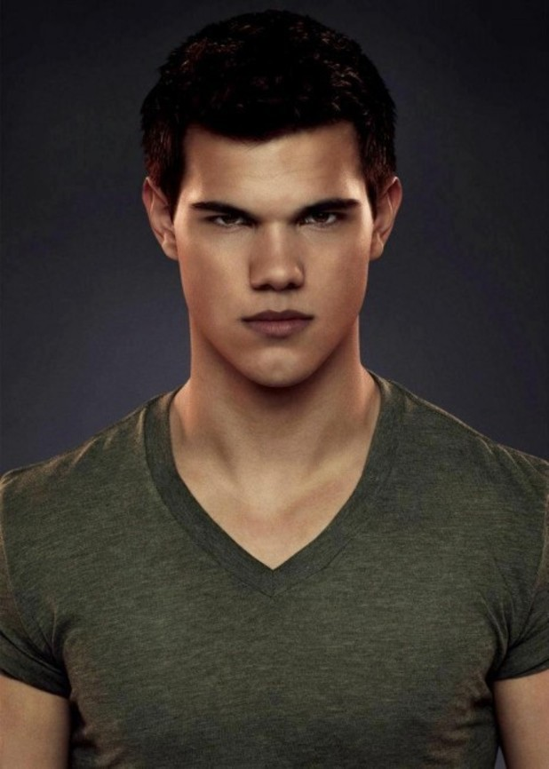 Taylor Lautner as Jacob Black.