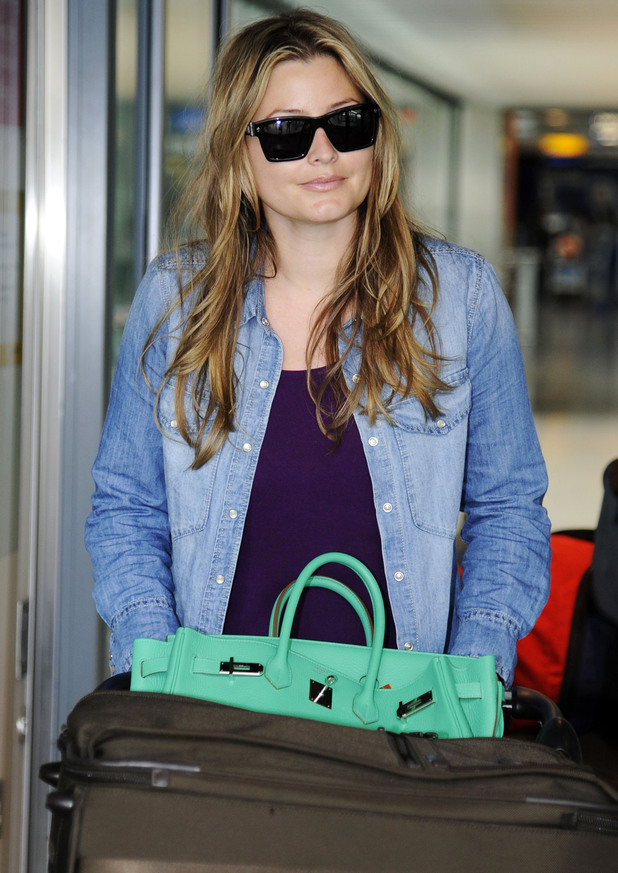 Holly Valance at Heathrow airport.