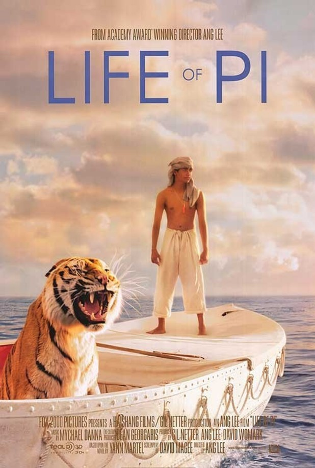 Poster for the movie 'Life of Pi'