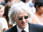 Bob Geldof's first showing since Peaches