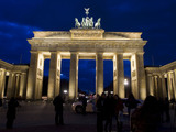 The Brandenburg Gate is illuminated prior to 'Earth Hour' in Berlin, Saturday, March 31, 2012. Earth Hour takes place worldwide at 8.30 p.m. local time and is a global call to turn off lights for 60 minutes in a bid to highlight the global climate change.