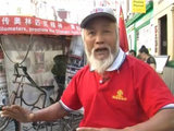 A farmer claims to have spent two years cycling from China to London for games.
