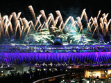 First Olympic Fireworks