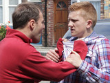 Tyrone and Chesney get into a heated argument about his van