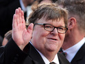 Documentary maker Michael Moore at the 2012 Academy Awards