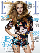 Rosie Huntington-Whiteley on the cover of Elle.