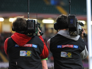 Two Sky Sports HD cameraman
