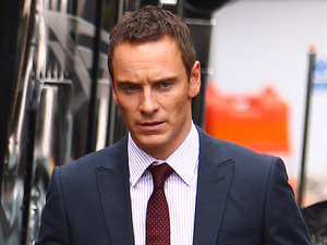 Michael Fassbender on the film set of his new movie 'The Counselor' on location in London