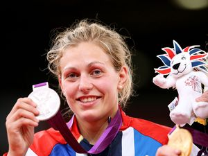 Gemma Gibbons with her silver medal for the women's 78kg judo (August 2).