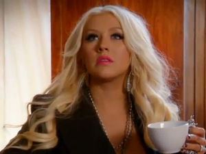Christina Aguilera in The Voice US promo (still)