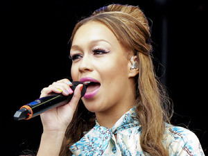 Rebecca Ferguson performing at the BT London Live at Hyde Park London, England