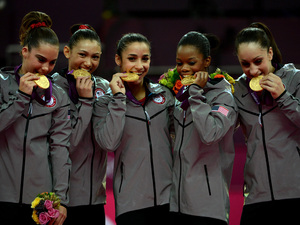 McKayla Maroney, Kyla Ross, Alexandra Raisman, Gabby Douglas, and Jordyn Wieber, 2012 London Olympic Games, Gymnastics
