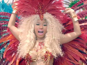 Nicki Minaj in 'Pound The Alarm' music video