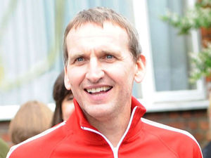 Christopher Eccleston at a Diamond Jubilee street party in London, June 4 2012