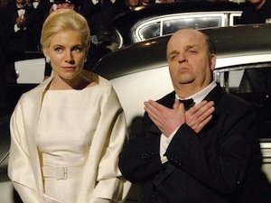 Sienna Miller and Toby Jones as Hedren and Hitchcock in HBO&#39;s The Girl