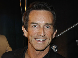 &#39;Survivor&#39; host Jeff Probst celebrates winning an Emmy, September 2011