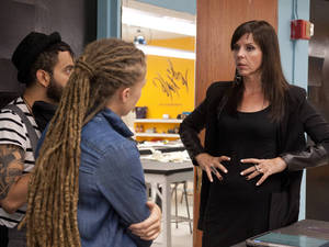 Alicia Hardesty, Raul Osorio and Season 7 designer Mila Hermanovski have to make it work