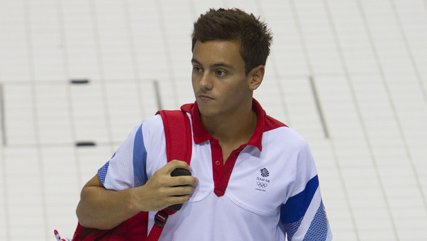 Tom Daley and members of the Olympic Team GB Diving Team Training at the Olympic Aquatics Centre, London, Britain - 16 Jul 2012