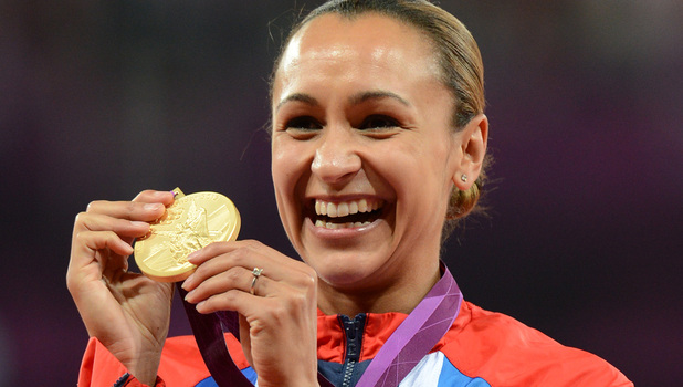 Jessica Ennis with her gold medal.