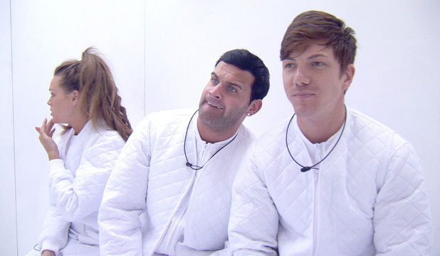 Big Brother 2012 - Day 57: Conor, Luke S and Ashleigh during the 'White Room' task