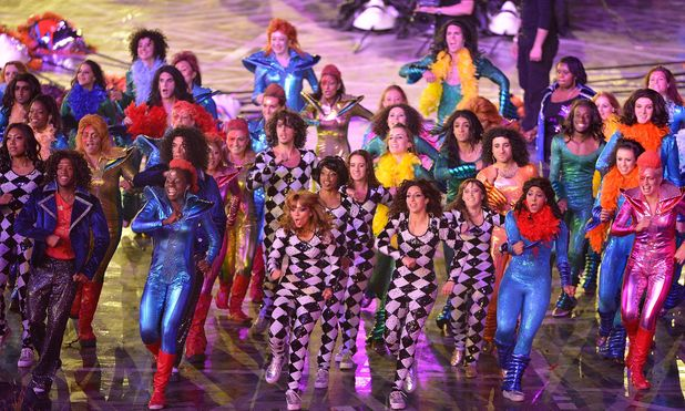 Dancers during the London 2012 Olympic Games Opening Ceremony