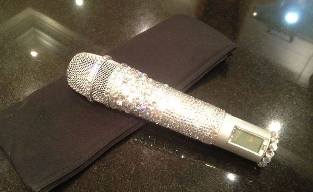 Victoria Beckham Spice Girls microphone