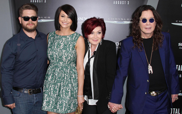 Jack Osbourne, Lisa Stelly, Sharon Osbourne, Ozzy Osbourne - Total Recall premiere, August 1, 2012