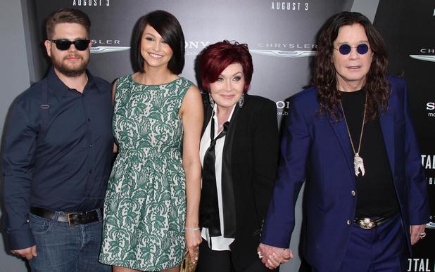 Jack Osbourne, Lisa Stelly, Sharon Osbourne, Ozzy Osbourne - Total Recall premiere, August 1, 2012