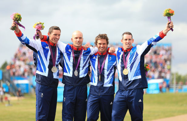 Team GB's C2 canoe slalom celebrations