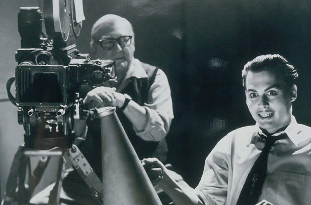 Norman Alden and Johnny Depp appearing in the film 'Ed Wood', 1994