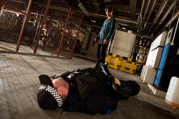 Walker and the policeman in Hollyoaks