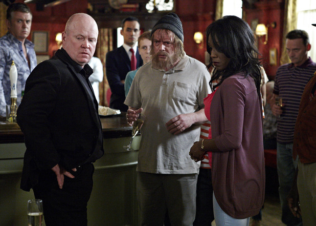 Shirley and Phil's engagement party in EastEnders
