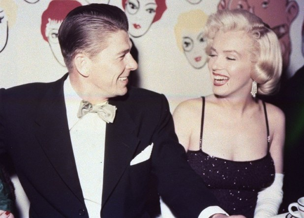 Marilyn Monroe and Ronald Reagan