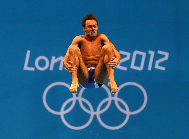 Tom Daley during the training session at the Aquatics Centre in the Olympic Park, London.