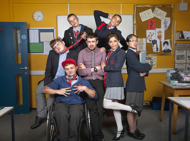 Cast shot of 'Bad Education' comedy on BBC Three