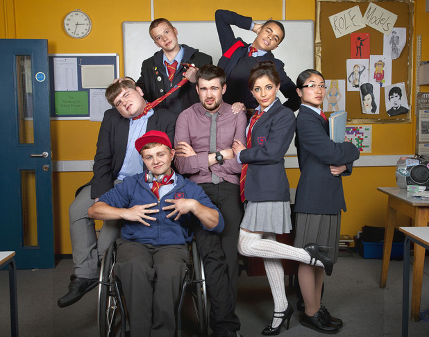 Cast shot of &#39;Bad Education&#39; comedy on BBC Three