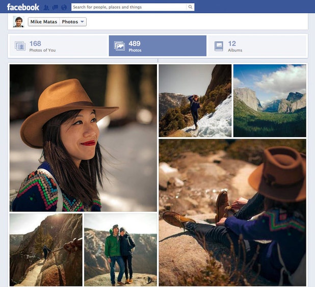 the Facebook Photo page redesign (as of Summer 2012)