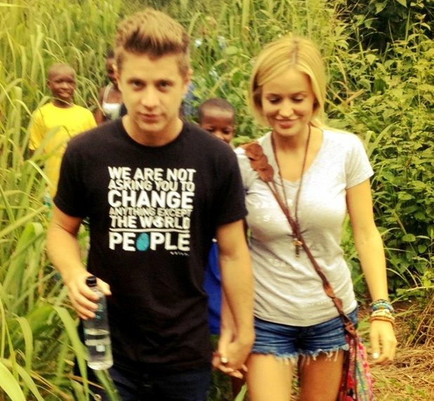 The Bachelorette stars Emily Maynard and Jef Holm visit Ghana on a humanitarian trip,