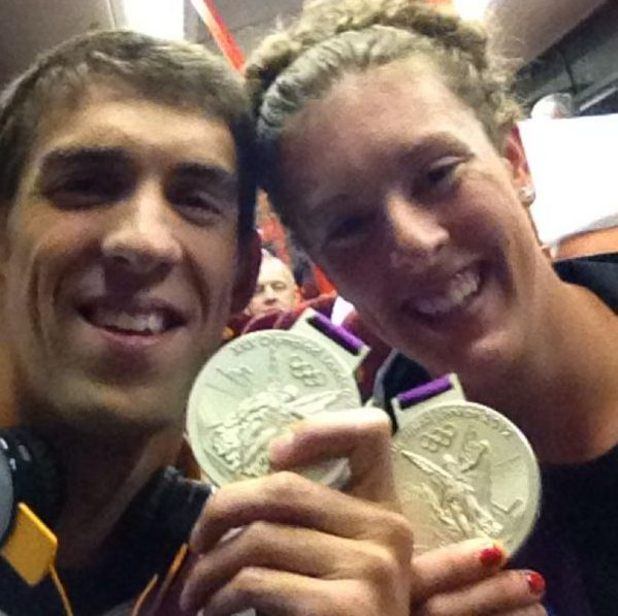 Michael Phelps and Allison Schmitty