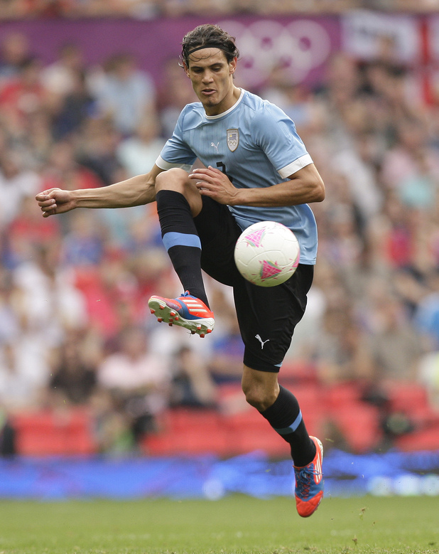 Uruguay's Edinson Cavani, London 2012