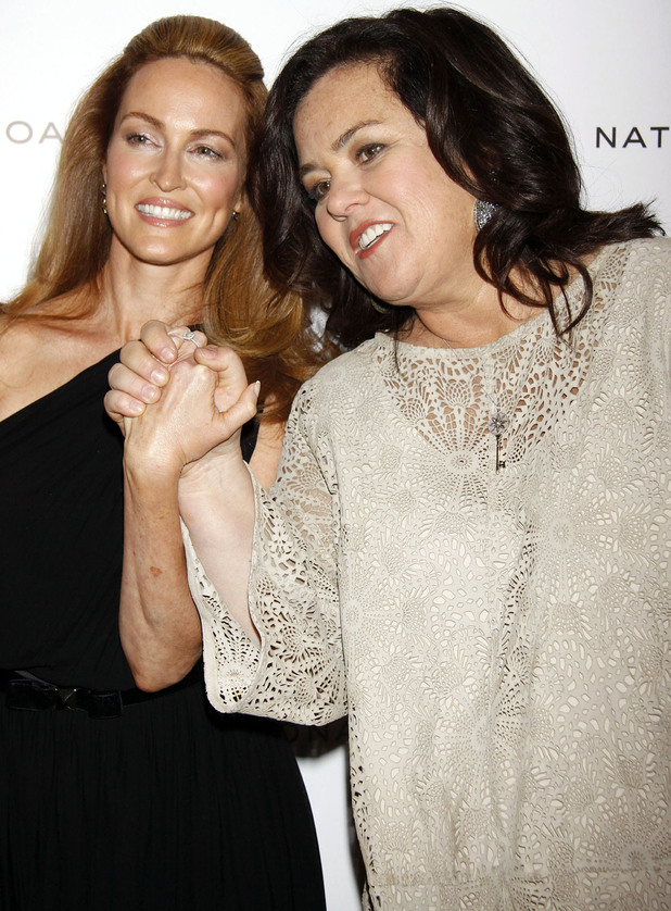 Michelle Rounds and Rosie O'Donnell- The National Board of Review Awards Gala held at Cipriani 42nd Street hall - Inside Arrivals.