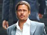 Brad Pitt in London filming a scene of his new movie 'The Counselor'.