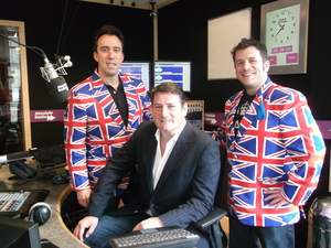 Tony Hadley, Christian O'Connell and Scott Frith for Absolute Radio