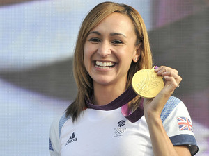 London 2012 Olympic gold medalist Jessica Ennis addresses the crowd at the BT London Live concert in Hyde Park London, England - 05.08.12