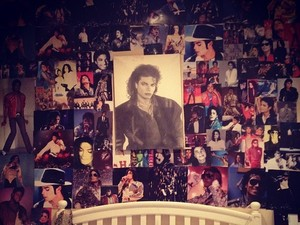 Paris Jackson collage of late father